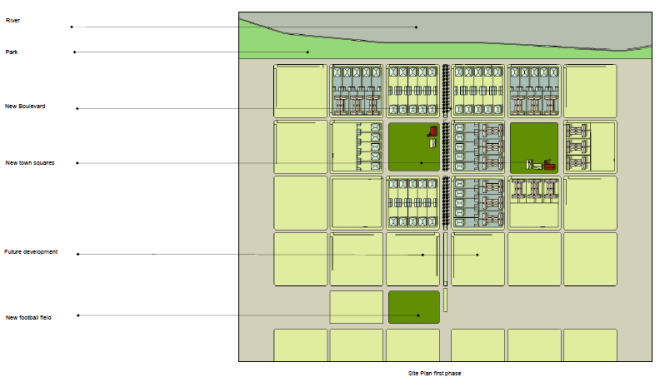 Pilar Site Plan first phase