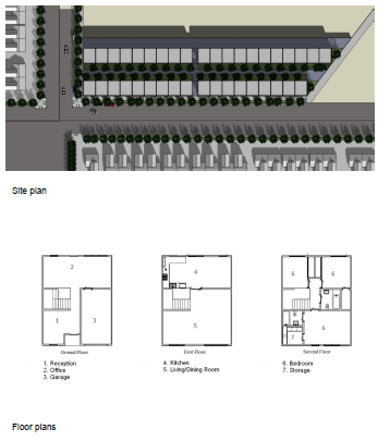 Site plan + floorplans